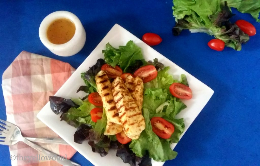 Grilled-Paneer-Salad-Leaves-Baby-Tomatos-Cottage-Leaves