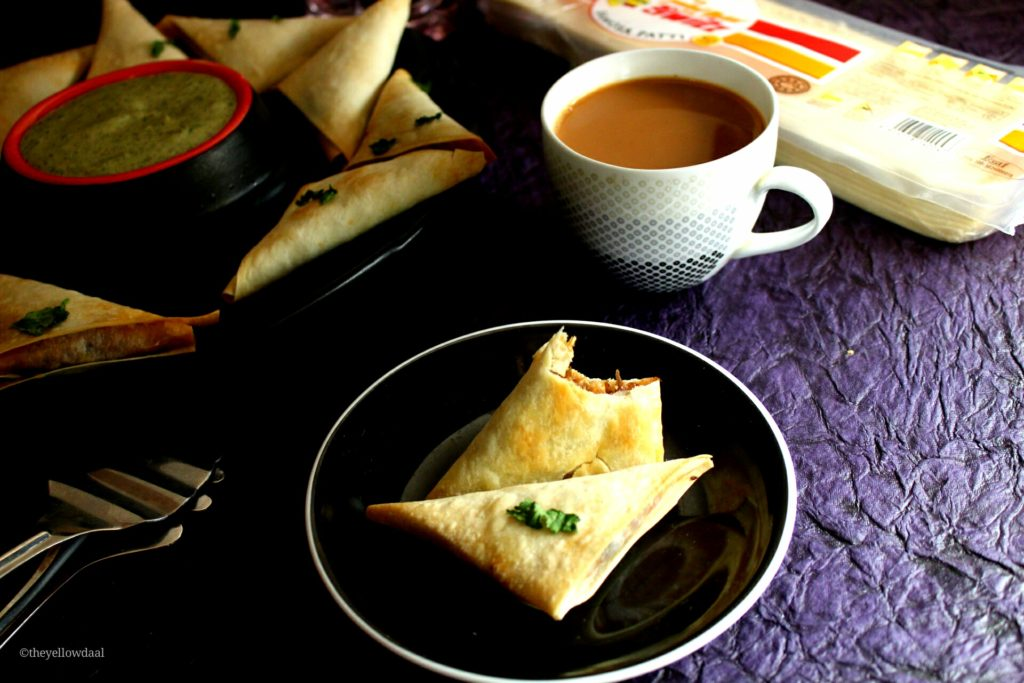 Baked-Chicken-Samosa-HomeMade-Tea-Time-Snack