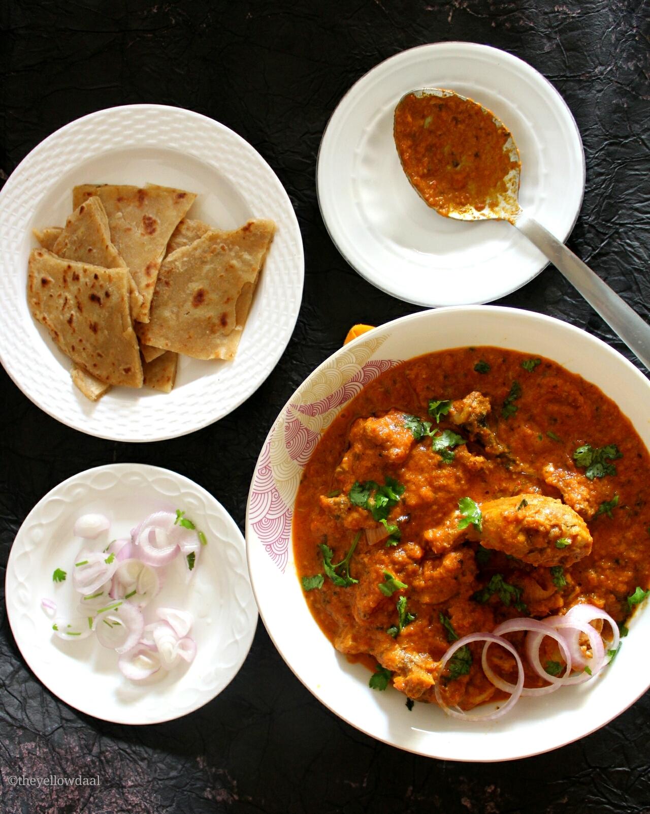 Chicken-changezi-gravy-and-paratha