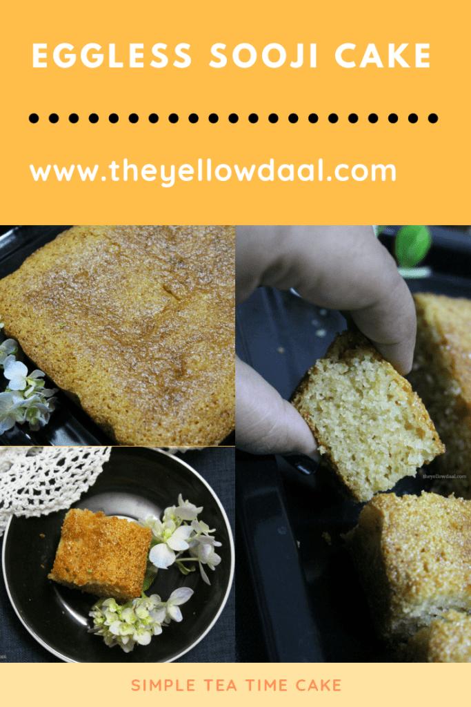 Eggless sooji cake pinterest 2